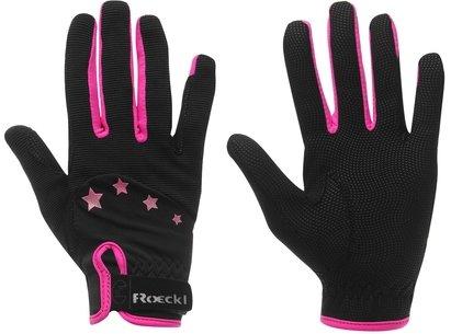 Toronto Junior Riding Gloves - Black/Pink
