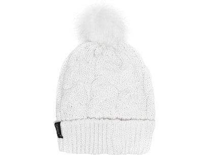 Twist Lurex Pompom Hat Ladies