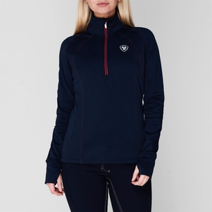 Ariat TEK Team 1/2 Zip Ladies Sweatshirt - Navy