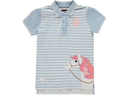 Requisite Applique Polo Shirt Junior Girls