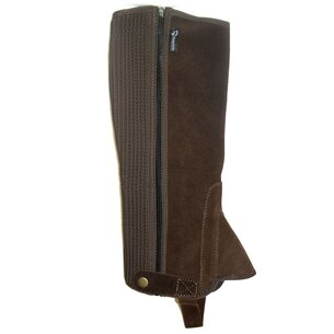 Requisite Suede Ladies Half Chaps - Brown