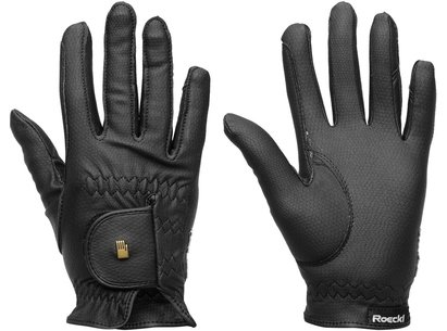 Roeckl Grip Junior Gloves - Black