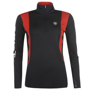 Ariat Sunstopper Team 2.0 1/4 Zip Ladies Baselayer - Navy