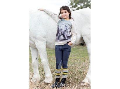 Horseware Long Sleeve Print Top Junior Girls