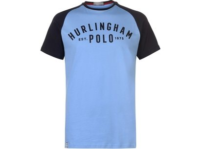 Hurlingham Polo 1875 Essential Varsity T-Shirt Mens