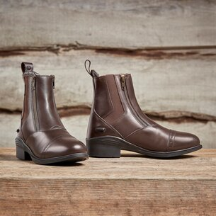 Dublin Ladies Evolution Double Zip Paddock Boots - Brown
