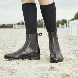 Dublin Ladies Evolution Double Zip Paddock Boots - Black
