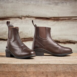 Dublin Ladies Evolution Zip Jodhpur Boots - Brown