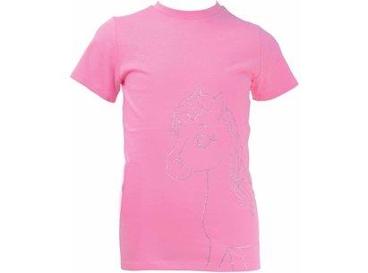 Battles Little Rider Diamante Little Show Pony T Shirt