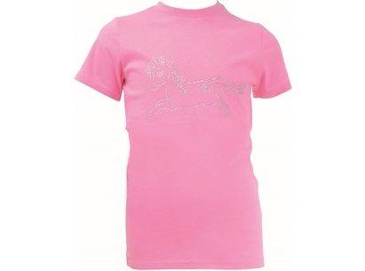 Battles Little Rider Diamante Star in Show T Shirt