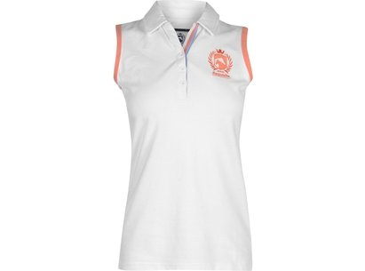 Requisite Sleeveless Polo Shirt Ladies