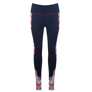 Horseware Limited Edition Union Jack Ladies Riding Tights - Navy/Red