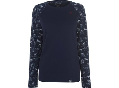 Ariat Novelty Longsleeve Ladies T-Shirt - Shadow Pasture