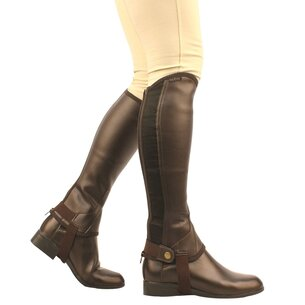 Saxon Equileather Childs Half Chaps - Brown