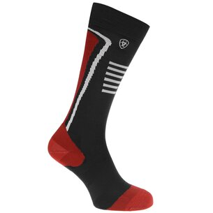 Ariat TEK Slimline Performance Ladies Socks - Navy/Red