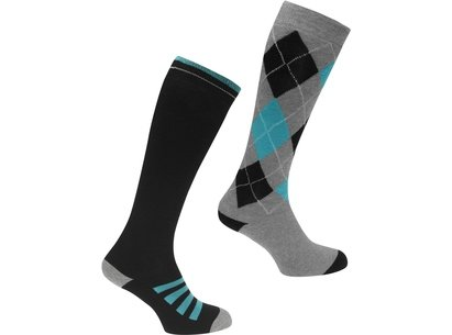 Requisite 2 Pack Ridding Mens Socks - Black/Green