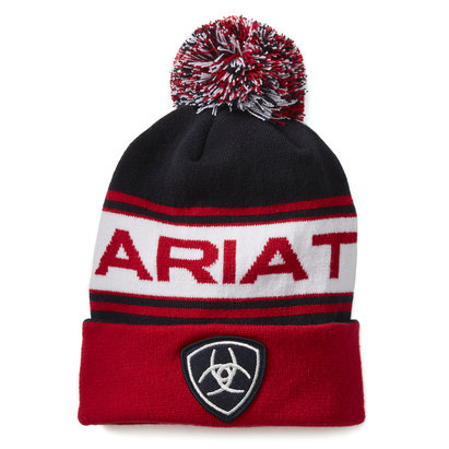 Ariat Team Beanie - Navy/Red