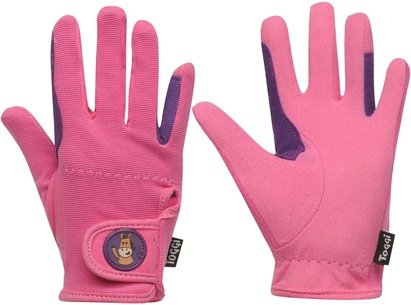 Toggi Childrens Riding Gloves - Pink