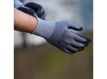 Horseware Coated Gloves Supreme Grip - Grey/Black
