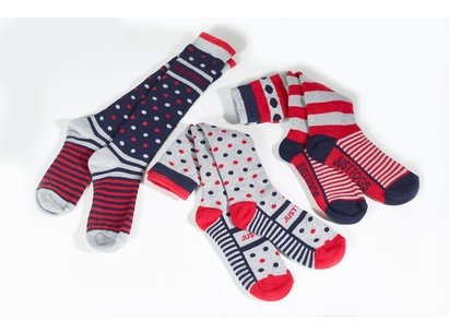 Just Togs Veneto 3 Pack Socks Ladies