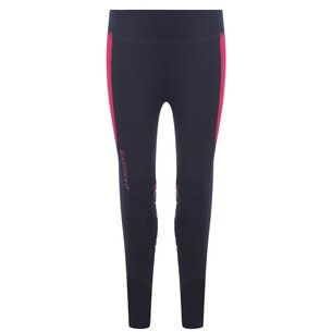 Loveson Ladies Riding Leggings - Navy/Pink