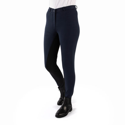 Requisite Two Tone Ladies Jodhpurs - Navy/Black
