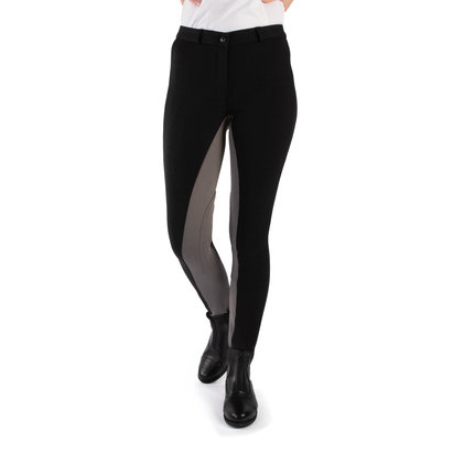 Requisite Two Tone Ladies Jodhpurs - Black/Grey
