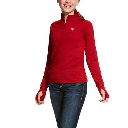 Ariat Lowell 1/4 Zip Junior Girls Baselayer Top