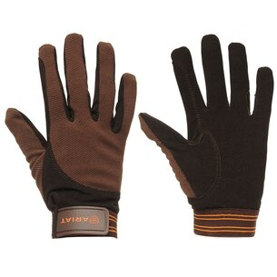 Ariat Tek Grip Gloves - Brown