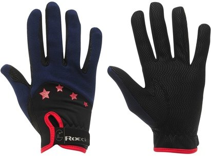 Roeckl Toronto Junior Riding Gloves - Black/Blue