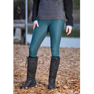 Dublin Performance Warm-It Gel Ladies Riding Tights - Green