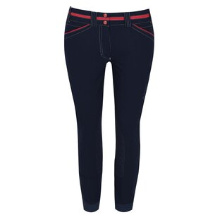 Ariat Team Heritage Elite Grip Knee Patch Ladies Breeches - Navy