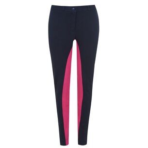 Requisite Two Tone Ladies Jodhpurs - Navy/Pink