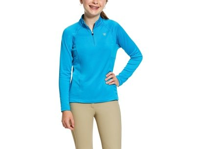Ariat Sunstopper Quarter Zip Base Layer Junior