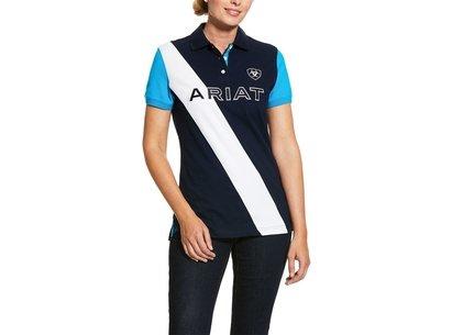 Ariat Taryn Ladies Polo Shirt - Navy/Nautilus