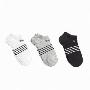 Jack Wills Tembleton Trainer Multipack Socks 3 Pack