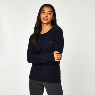 Jack Wills Tinsbury Wool Blend Classic Cable Knitted Jumper