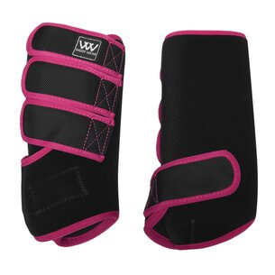 Woof Wear Dressage Wraps - Black/Berry