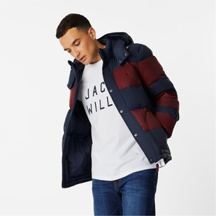 Jack Wills Moxley Colour Block Puffer Jacket