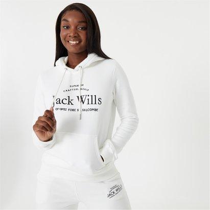 Jack Wills Hunston Embroidered Logo Hoodie