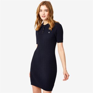 Jack Wills Moray Polo Cable Knitted Mini Dress