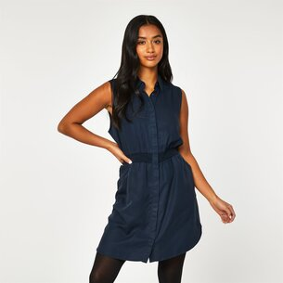 Jack Wills Ruckhall Sleeveless Shirt Mini Dress