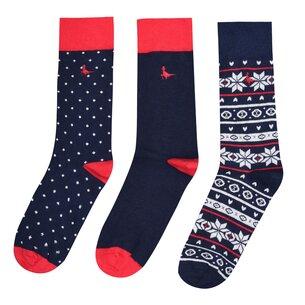 Jack Wills Bickleigh Multipack Pattern Socks 3 Pack