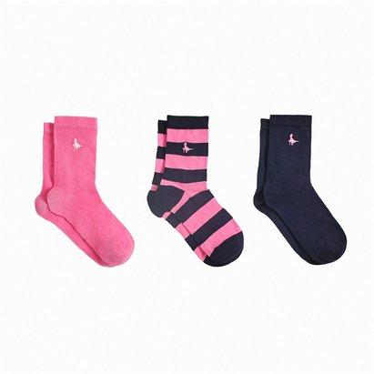 Jack Wills Ranfield Multipack Ankle Socks 3 Pack