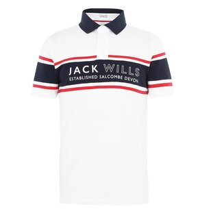 Jack Wills Stakeford Cut And Sew Polo
