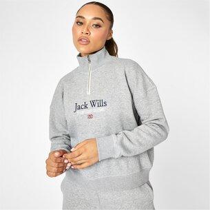 Jack Wills Honeylane Half Zip Sweatshirt