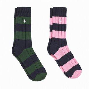 Jack Wills Sunbury Multipack Socks 2 Pack