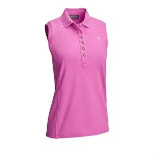 Ariat Ladies Prix 2 Sleeveless Polo Shirt - Meadow Mauve