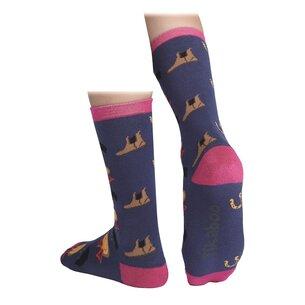 Shires Tikaboo Equestrian Socks - Navy