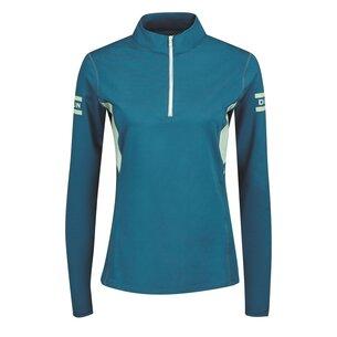 Dublin Ladies Blaze 1/4 Zip Long Sleeves Tech Training Top - Blue Lagoon